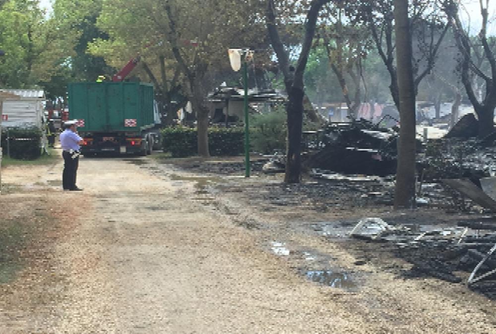 Campingbrand in Italië